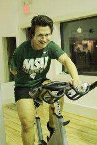 Ćwiczenia na rowerku