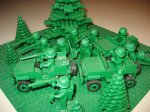 kolekcja klocków Lego w stylu militarnym